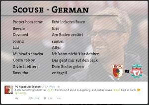 FC Augsburg Scouse translations