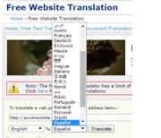 Free website translation site language options